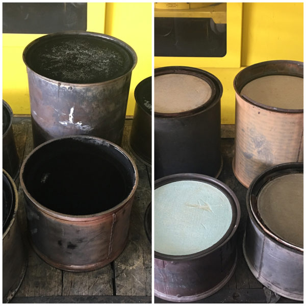 DPF CLEANING BEFOR AND AFTER
